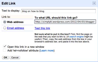 Blogger NoFollow Link